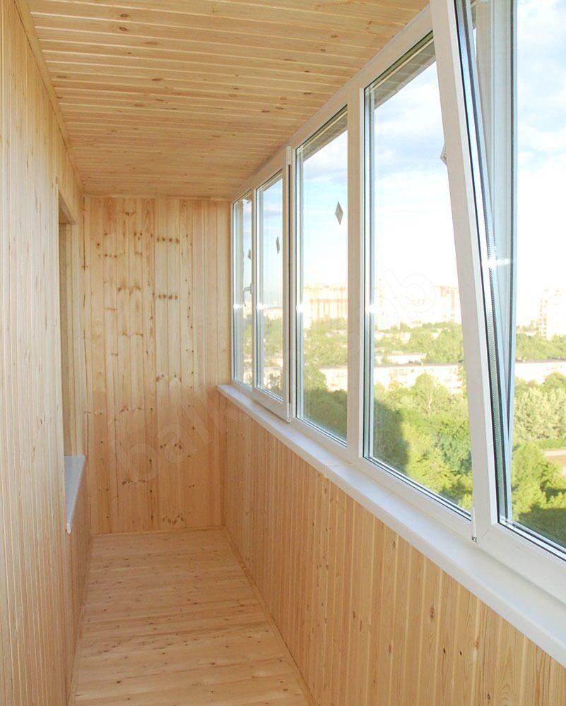 Виды отделки лоджия балкон.